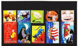 TNT181 DÄNEMARK - FÄRÖER 2003  Michl 450/59 SATZ ** Postfrisch SIEHE ABBILDUNG - Färöer Inseln