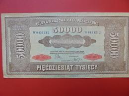 POLOGNE 50.000 MAREK 1922 BELLE QUALITE  CIRCULER (B.1) - Pologne