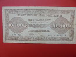 POLOGNE 100.000 MAREK 1923  CIRCULER (B.1) - Poland