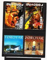 TNT179 DÄNEMARK - FÄRÖER 2002/03  Michl 433/34 + 446/47 ** Postfrisch SIEHE ABBILDUNG - Färöer Inseln