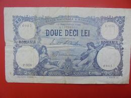 ROUMANIE 20 LEI 1929 CIRCULER (B.1) - Romania