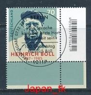 GERMANY Mi. Nr. 3350 100. Geburtstag Von Heinrich Böll - ESST Berlin - Eckrand Unten Rechts - Used - Gebraucht
