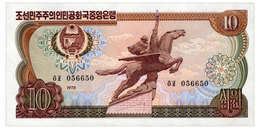 NORTH KOREA 10 WON 1978 Pick 20e Unc - Korea, North