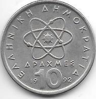*greece 10 Drachme 1992  Km 132 - Grèce