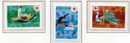 PIA - FINLANDIA  - 1970 : Pro Croce Rossa- Trasfusioni Di Sangue - (Yv 671-73) - Primo Soccorso