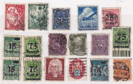 ALLEMAGNE LOT TIMBRES PERFORES/PERFIN - Alemania