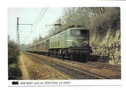 77/ SEINE Et MARNE...Une 2D2 9107 Près De FONTAINE LE PORT ( Cliché Mars 1978)...TRAIN - Otros Municipios