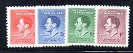 APR1181 - NUOVA GUINEA 1937 ,  Yvert N. 58/61  ***  (2380A)  INCORONAZIONE - Papouasie-Nouvelle-Guinée