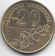 *greece 20 Drachme 2000 Km 154 - Grèce