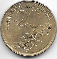 *greece 20 Drachme 1998 Km 154 - Grèce
