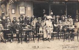 76-DIEPPE-CARTE-PHOTO- EN TERRASSE D'UN CAFE - Dieppe