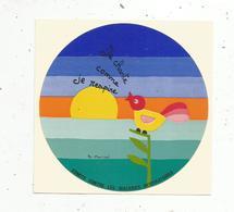 Autocollant , Je Chante Comme Je Respire, Comité Contre Les Maladies Respiratoires , Illustrateur B. Marical - Stickers