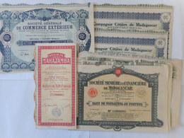 LOT De 9 Actions MADAGASCAR - Aandelen