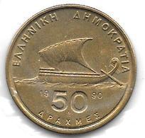 *greece 50 Drachme 1990 Km 147 - Grèce