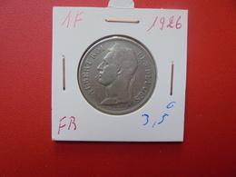 CONGO BELGE 1 FRANC 1926 FR - Congo (Belge) & Ruanda-Urundi