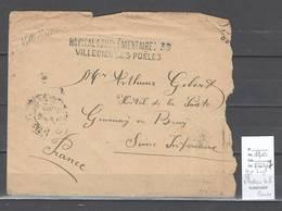 France - Cachet Hopital  Complementaire No 36 De Villedieu Les Poeles - Manche - - WW I