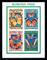 Burkina Faso 1996, Insects, Butterflies, 4val In BF IMPERFORATED - Burkina Faso (1984-...)