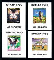 Burkina Faso 1996, Insects, Butterflies, Grasshopper, 4BF IMPERFORATED - Burkina Faso (1984-...)