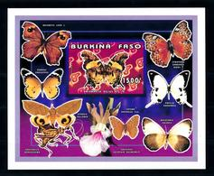 Burkina Faso 1996, Insects, Butterflies, Orchid, BF IMPERFORATED - Burkina Faso (1984-...)