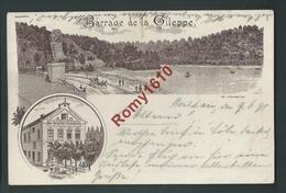 """Barrage De La Gileppe. """"Au Lion De La Gileppe"""" Café Restaurant Tenu Pas V. Vroomen En 1898. Litho. Précurseur. 2 Scans - Gileppe (Barrage)"""