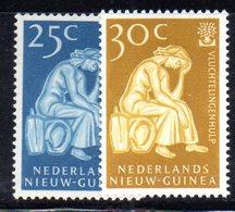 APR1190 - NUOVA GUINEA OLANDESE 1960 , Serie  Yvert N. 56/57  ***  MNH  (2380A)  Rifugiato - Nuova Guinea Olandese