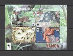 P722 2015 SAMOA WWF FAUNA REPTILES PACIFIC TREE BOA 1KB MNH - W.W.F.