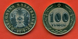Kazakhstan 2019. New Type 100 Tenge Bimetallic. The Inscription In Latin. Previously Was In Cyrillic. UNC.NEW!!!! - Kazakhstan