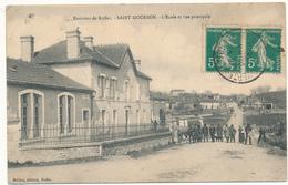 SAINT GOURSON - L'Ecole Et Rue Principale - Other Municipalities