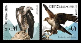 Cyprus 2019 Mih. 1408/09 Europa. National Birds. Fauna. Griffon Vulture And Bonelli's Eagle MNH ** - Cyprus (Republic)