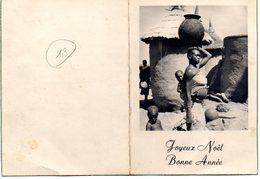 Carte De Voeux Envoyée Du Sénégal - Femme Africaine Avec Son Enfant - Noël