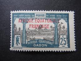 Timbre Colonial  - AEF - Gabon 25 Centimes - - A.E.F. (1936-1958)