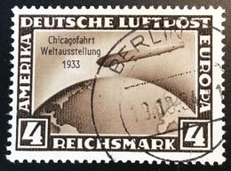 Deutsches Reich 1933 Mi 498 ZEPPELIN CHICAGO-FAHRT  (Stempel Falsch Cad Faux - Usati