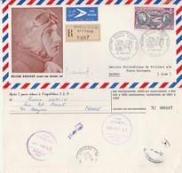 Aérogramme Hommage à Hélène Boucher Signé Combet Recommandé Bureau Temporaire N° 7 Paris 10/6/1972 Pour Irak - Poststempel (Briefe)