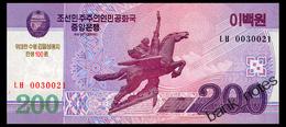 NORTH KOREA 200 WON 2008(2013) COMMRMORATIVE Pick CS13 Unc - Corée Du Nord