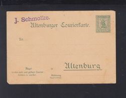 Dt. Reich Privatpostkarte Altenburg Ungebraucht - Posta Privata