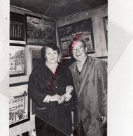 87- SAINT LEONARD NOBLAT- ROBERT MASDURAUD ET SON EPOUSE MADELEINE PEINTRE NAIFS -  RARE PHOTO ORIGINALE - Persone Identificate