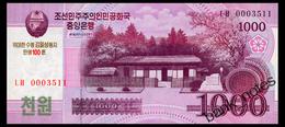 NORTH KOREA 1000 WON 2008(2013) COMMRMORATIVE Pick CS15 Unc - Corea Del Norte
