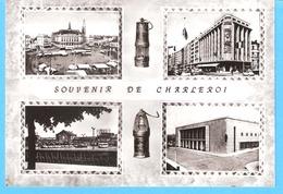Souvenir De Charleroi+/-1960-Multivues-Lampe De Mineur-Place Du Manège-Notre Maison (BD Tirou)-Tram Devant La Gare-... - Charleroi