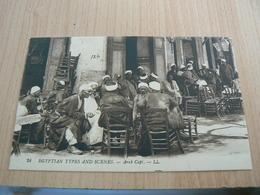 CP01/ EGYPTE SCENES ET TYPES CAFE ARABE / CARTE NEUVE - Autres