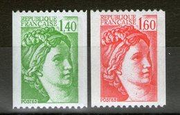 "N° 2157**_2158**_roulettes_""RF"" - 1977-81 Sabine Of Gandon"