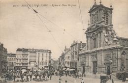 CPA - Belgique - Brussels - Bruxelles - St-Josse-ten-Noode - Eglise Et Place St-Josse - St-Joost-ten-Node - St-Josse-ten-Noode
