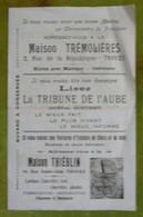 Buvard Pubicitaire  Troyes - Trémolières - Tribune De L'Aube - Thiéblin - Brencklé - La Tricoteuse - Institut Dentaire - Buvards, Protège-cahiers Illustrés