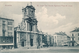 CPA - Belgique - Brussels - Bruxelles - St-Josse-ten-Noode - Eglise Et Place St-Josse - St-Josse-ten-Noode - St-Joost-ten-Node