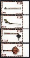 FIDJI Fiji 1241/44 Armes De Guerre Traditionnelles , Massues - Fiji (1970-...)