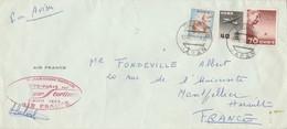 Japon 1 ère Liaison Aérienne Transpolaire TOKYO PARIS Par Air France 12/4/1958 Pour Montpellier Signée Calvet - Poste Aérienne