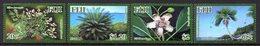 FIDJI Fiji 1251/54 Protection De La Nature , Flore Menacée , Palmier , Magnolias - Végétaux