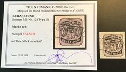 Bremen 1866-1867 Mi 12  (Stempel Falsch Cad Faux Altdeutschland German States  BPP Postmark Forgery Breme - Bremen