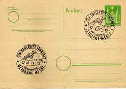 Germany Stamped Stationery - 1951 Karlsruhe ( Baden ) - GETRANKE MESSE - Cartes Postales - Oblitérées