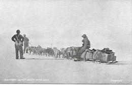 Expédition Polaire - Southern Depot Party With Dogs - Equipage Attelage De Chiens De Traineaux Vers 1900 - Missions