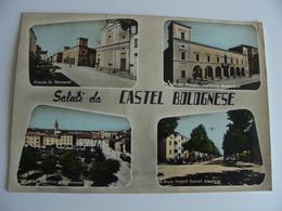 SALUTI DA CASTEL BOLOGNESE  RAVENNA  EMILIA ROMAGNA   VIAGGIATA  COME DA FOTO ACQUERELLATA - Ravenna